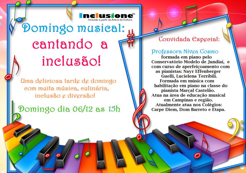 Domingo Musical: Cantando a Inclusão!