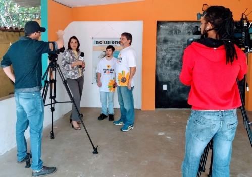 Bastidores da gravação do programa Saúde é Vida